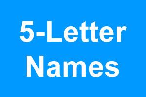 5 Letter Boy Names