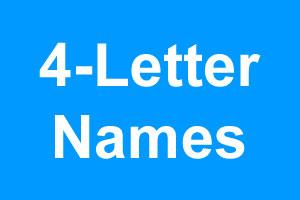 4 Letter Boy Names