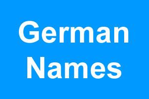 German boy names
