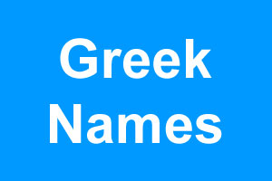 Greek boy names