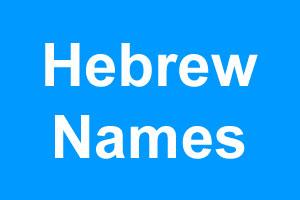 Hebrew boy names