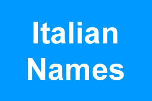 italian mens names list