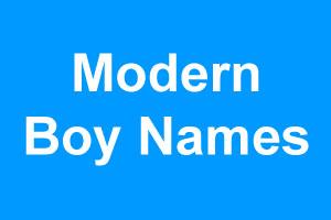 Contemporary boy names