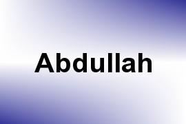 Abdullah name image