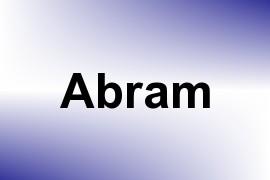 Abram name image