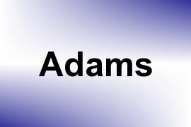 Adams name image