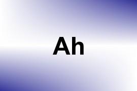 Ah name image