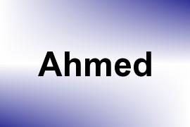 Ahmed name image