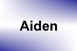 Aiden name image