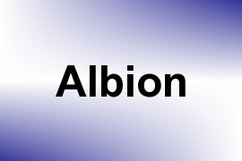 Albion name image