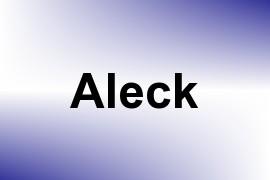 Aleck name image