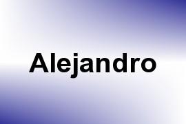 Alejandro name image