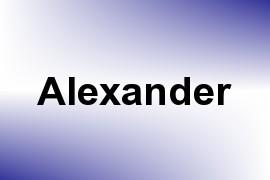Alexander name image