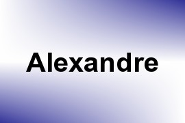 Alexandre name image