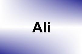 Ali name image