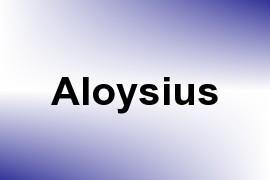 Aloysius name image