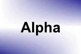 Alpha name image