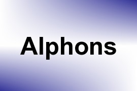 Alphons name image