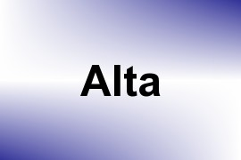 Alta name image