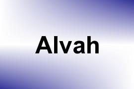 Alvah name image