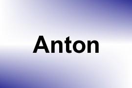 Anton name image