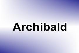 Archibald name image