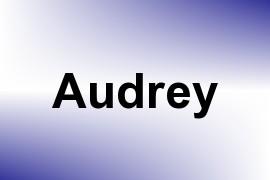 Audrey name image