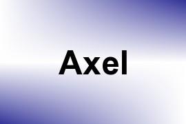 Axel name image