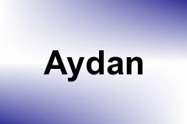 Aydan name image