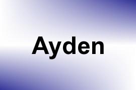 Ayden name image