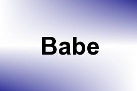 Babe name image