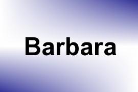 Barbara name image