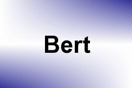 Bert name image