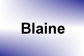 Blaine name image