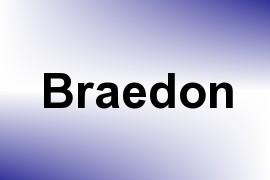 Braedon name image