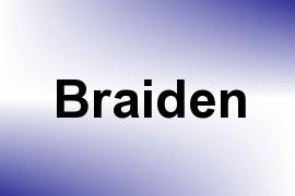 Braiden name image