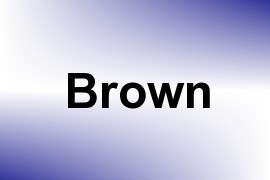 Brown name image