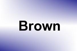 Brown name image