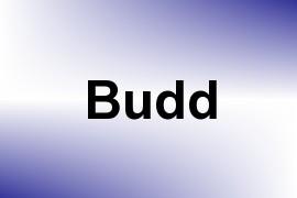 Budd name image
