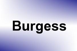 Burgess name image