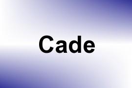 Cade name image