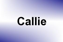 Callie name image