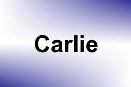 Carlie name image