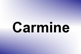 Carmine name image