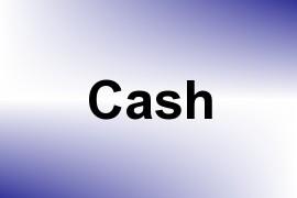 Cash name image