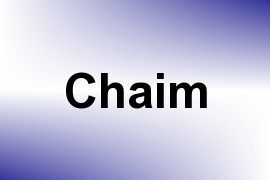 Chaim name image