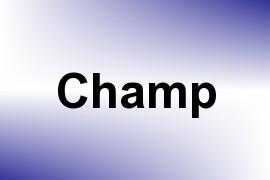 Champ name image