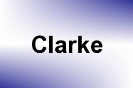 Clarke name image