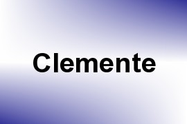 Clemente name image