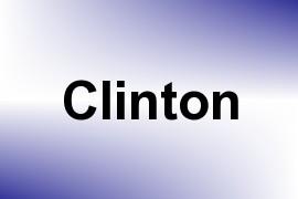 Clinton name image